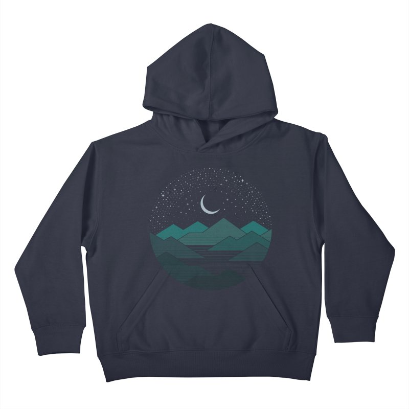 Between The Mountains And The Stars Kids Pullover Hoody by thepapercrane's shop