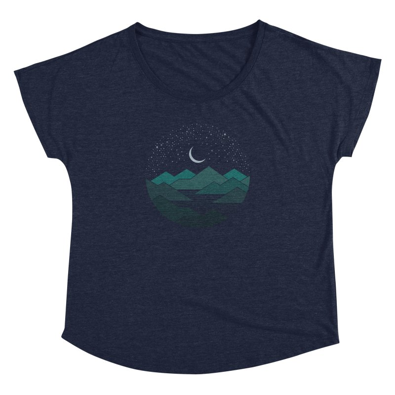 Between The Mountains And The Stars Women's Scoop Neck by thepapercrane's shop