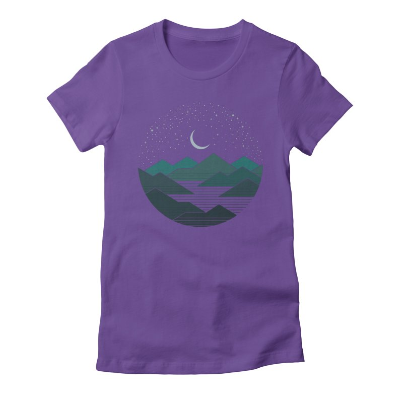 Between The Mountains And The Stars Women's Fitted T-Shirt by thepapercrane's shop