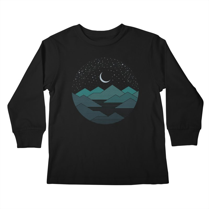 Between The Mountains And The Stars Kids Longsleeve T-Shirt by thepapercrane's shop