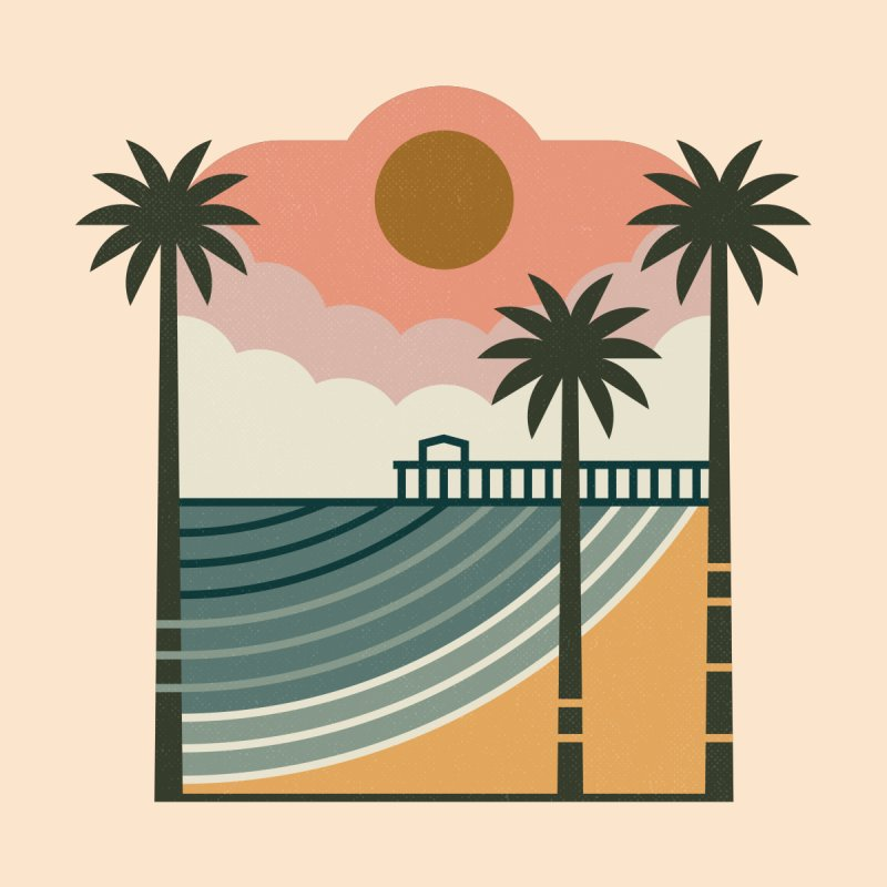 The Pier Home Tapestry by thepapercrane's shop