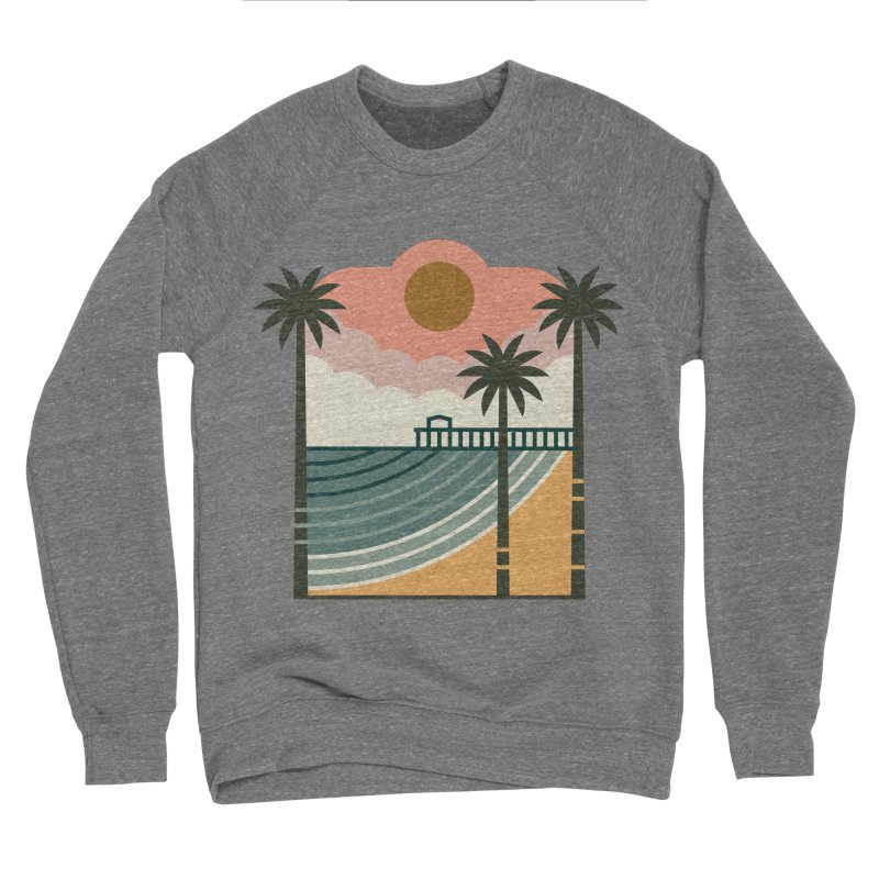 The Pier Men's Sponge Fleece Sweatshirt by thepapercrane's shop