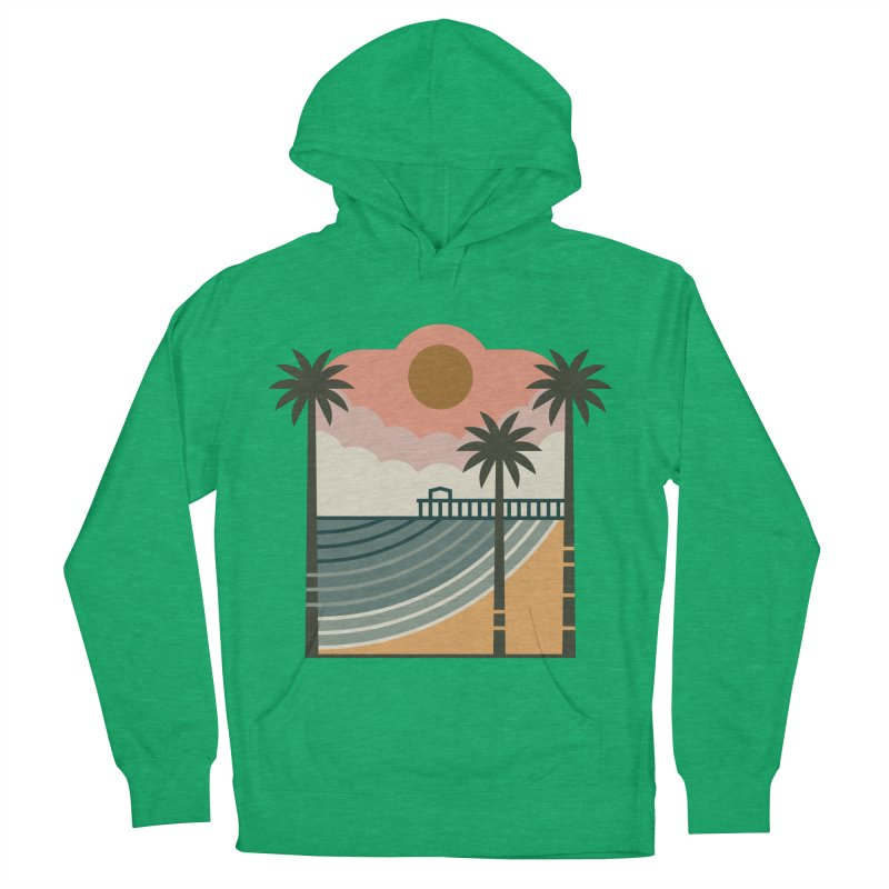 The Pier Men's French Terry Pullover Hoody by thepapercrane's shop