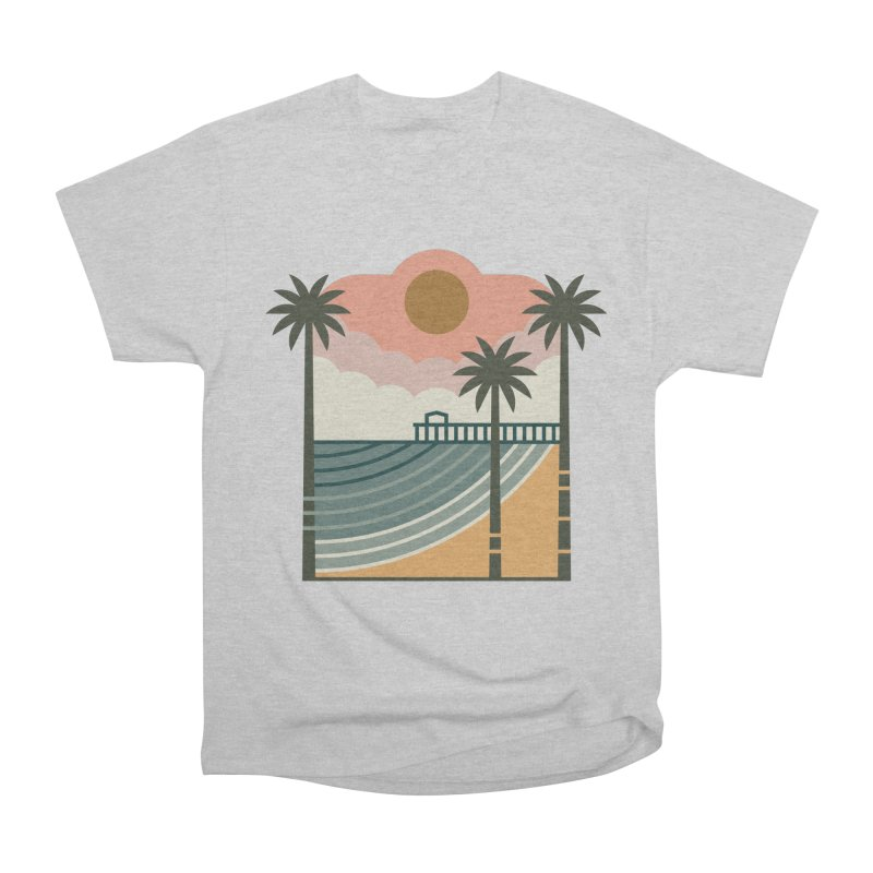 The Pier Men's Heavyweight T-Shirt by thepapercrane's shop