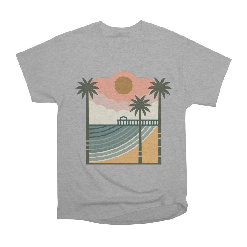 The Pier Men's Heavyweight T-Shirt by thepapercrane's shop
