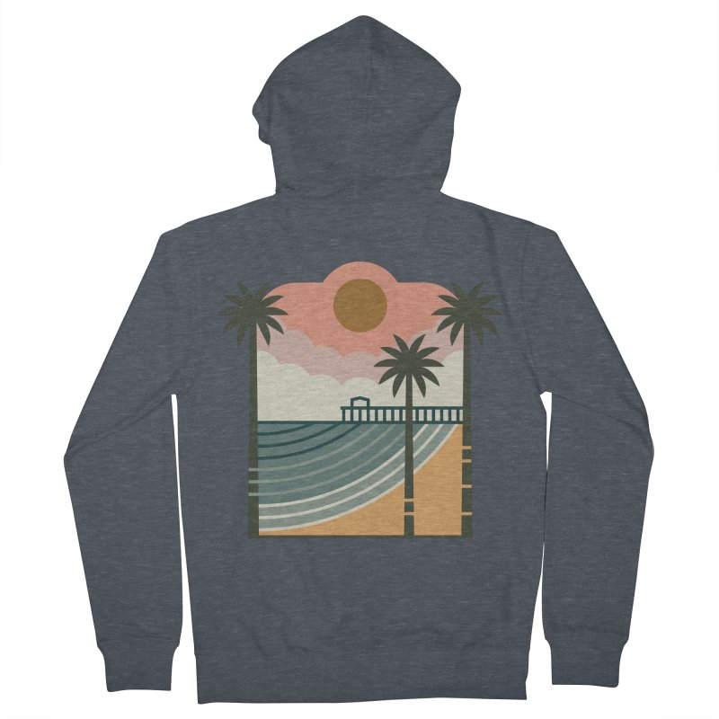 The Pier Men's French Terry Zip-Up Hoody by thepapercrane's shop