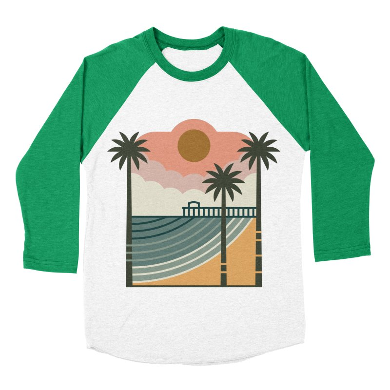 The Pier Women's Baseball Triblend Longsleeve T-Shirt by thepapercrane's shop