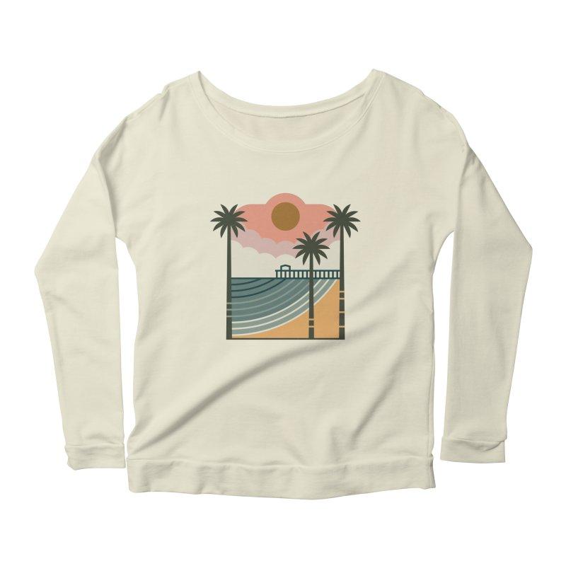 The Pier Women's Scoop Neck Longsleeve T-Shirt by thepapercrane's shop