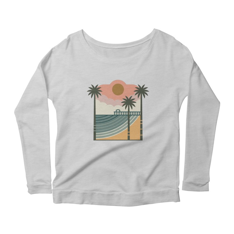 The Pier Women's Scoop Neck Longsleeve T-Shirt by thepapercrane's shop