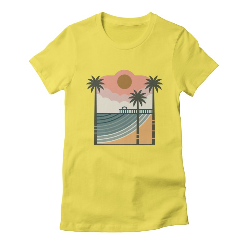 The Pier Women's Fitted T-Shirt by thepapercrane's shop