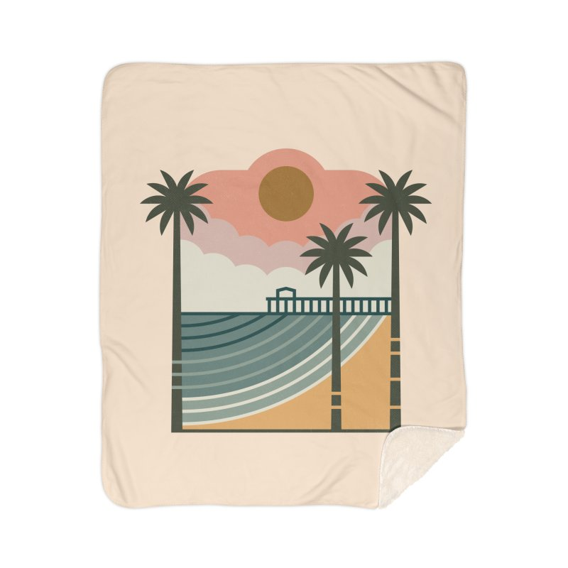 The Pier Home Sherpa Blanket Blanket by thepapercrane's shop