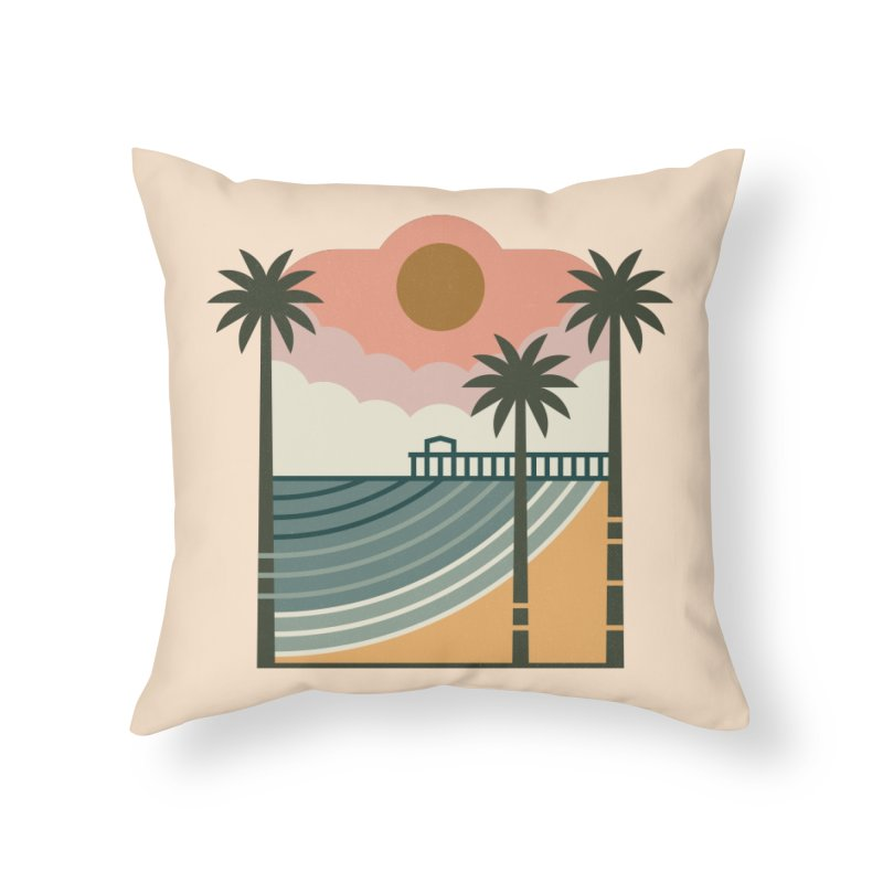 The Pier Home Throw Pillow by thepapercrane's shop