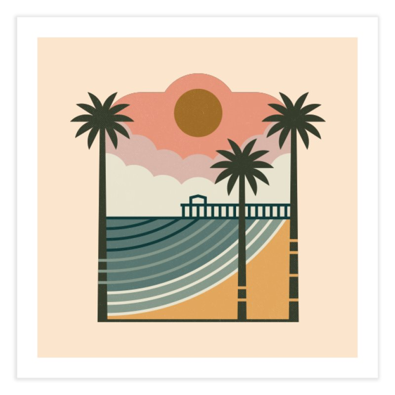 The Pier Home Fine Art Print by thepapercrane's shop