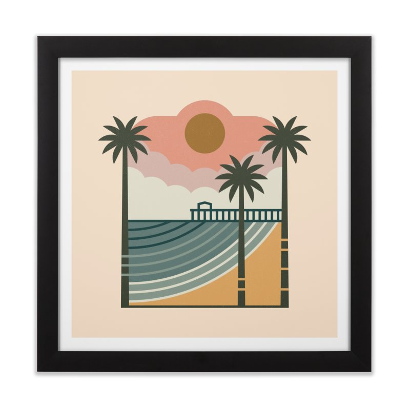 The Pier Home Framed Fine Art Print by thepapercrane's shop