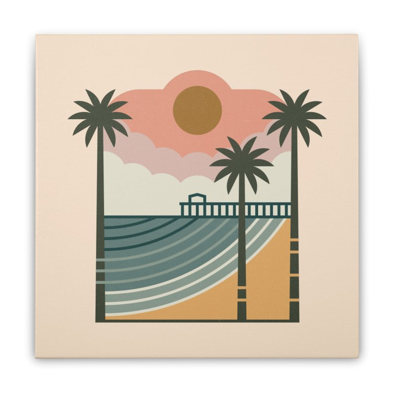 The Pier Home Stretched Canvas by thepapercrane's shop