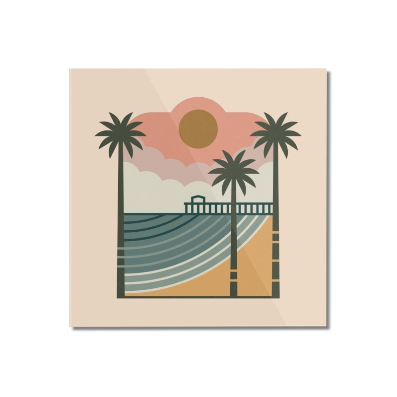 The Pier Home Mounted Acrylic Print by thepapercrane's shop