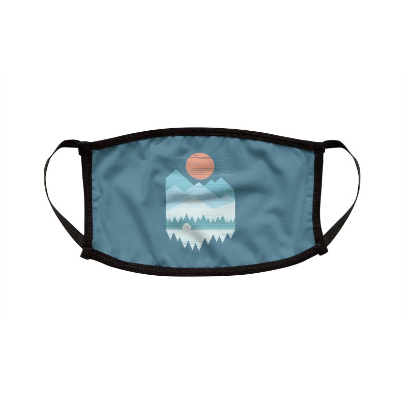 Cabin In The Snow Accessories Face Mask by thepapercrane's shop