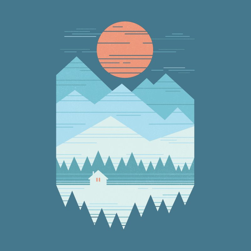 Cabin In The Snow Men's T-Shirt by thepapercrane's shop