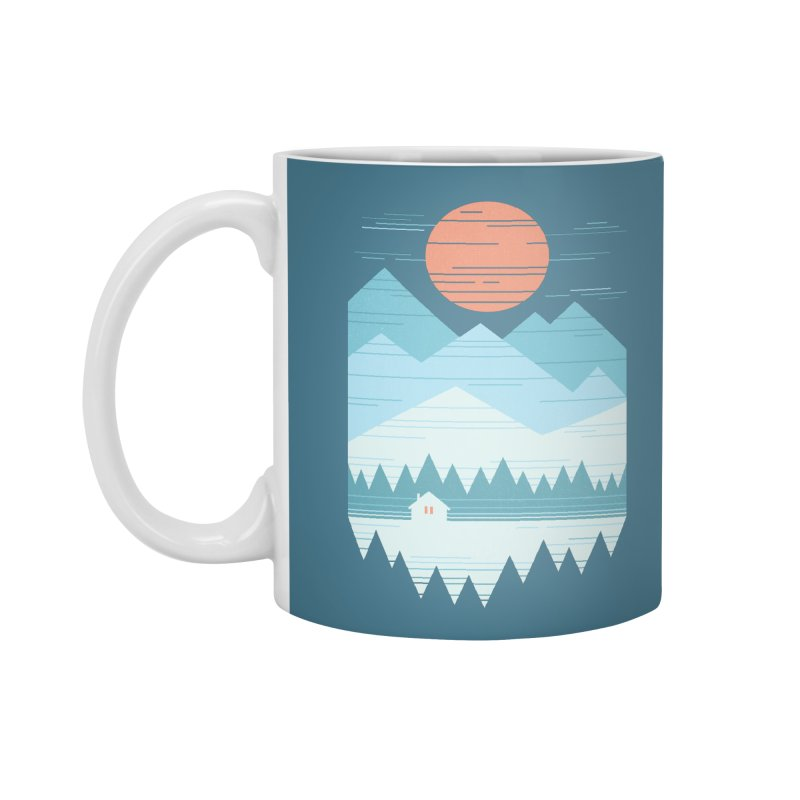 Cabin In The Snow Accessories Standard Mug by thepapercrane's shop