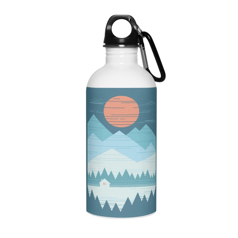 Cabin In The Snow Accessories Water Bottle by thepapercrane's shop