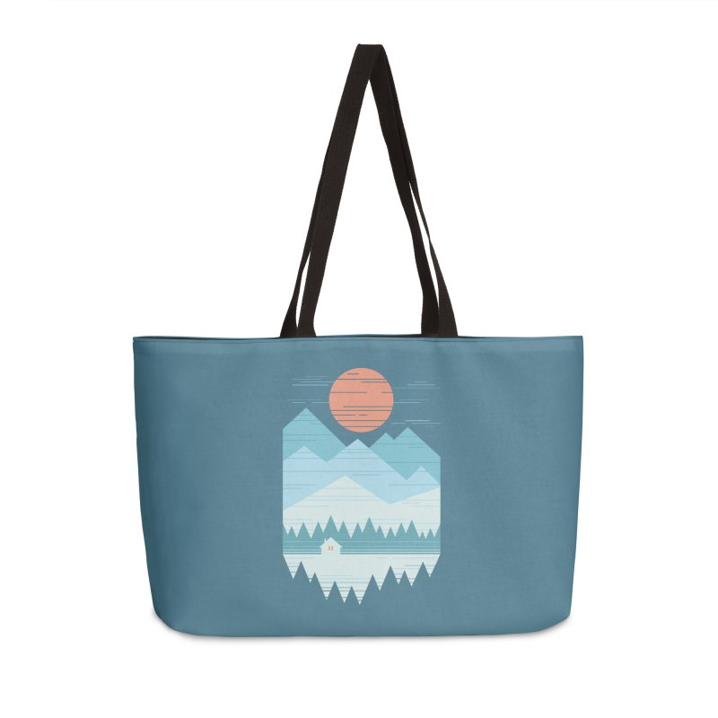Cabin In The Snow Accessories Weekender Bag Bag by thepapercrane's shop