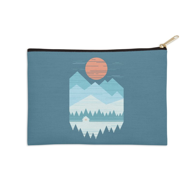 Cabin In The Snow Accessories Zip Pouch by thepapercrane's shop
