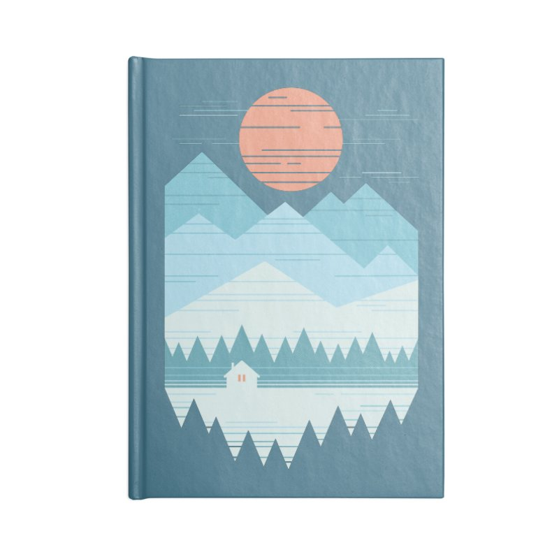 Cabin In The Snow Accessories Lined Journal Notebook by thepapercrane's shop