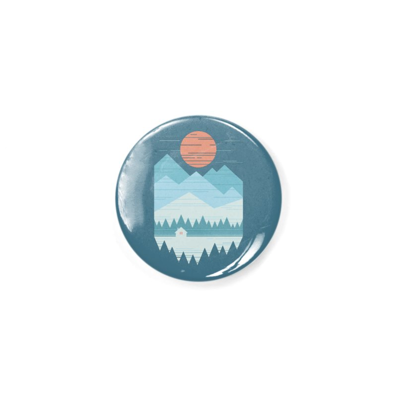 Cabin In The Snow Accessories Button by thepapercrane's shop
