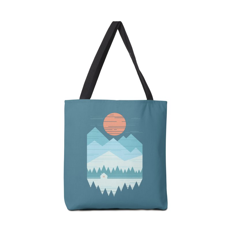 Cabin In The Snow Accessories Tote Bag Bag by thepapercrane's shop