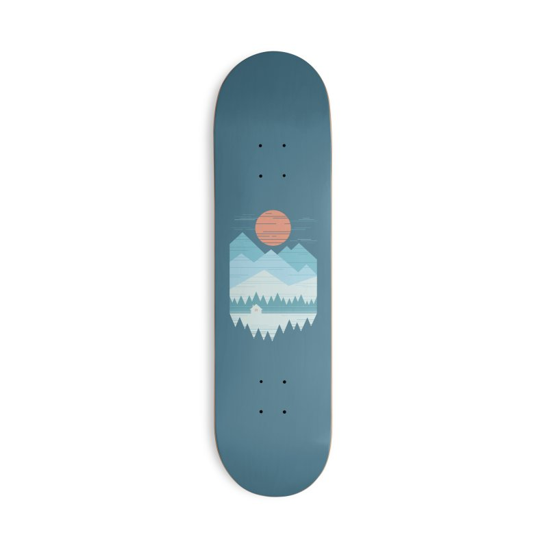 Cabin In The Snow Accessories Deck Only Skateboard by thepapercrane's shop