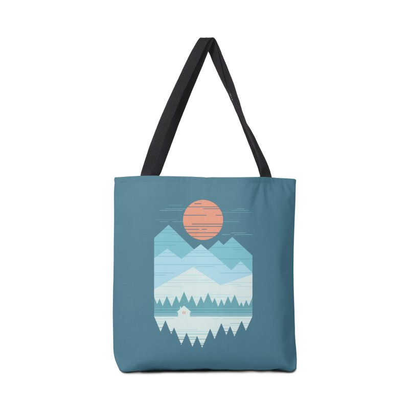 Cabin In The Snow Accessories Bag by thepapercrane's shop