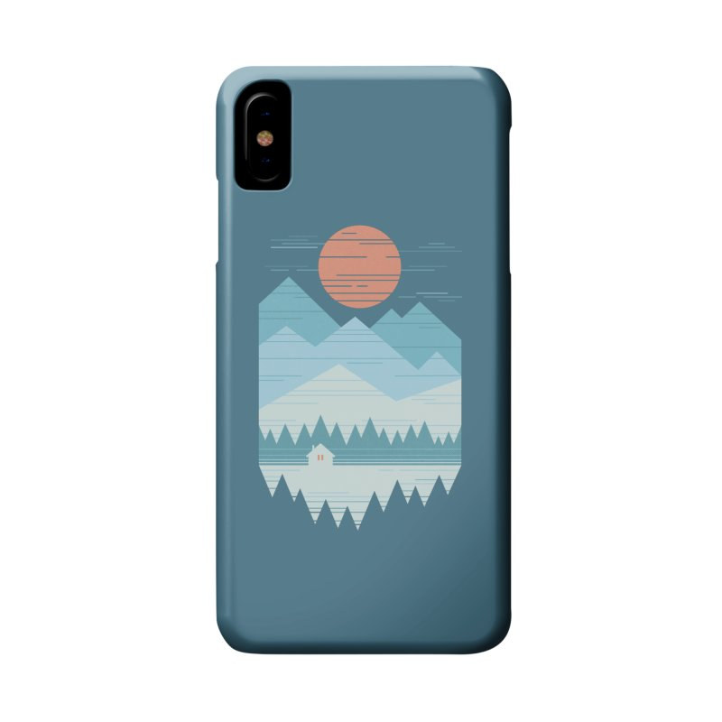 Cabin In The Snow Accessories Phone Case by thepapercrane's shop