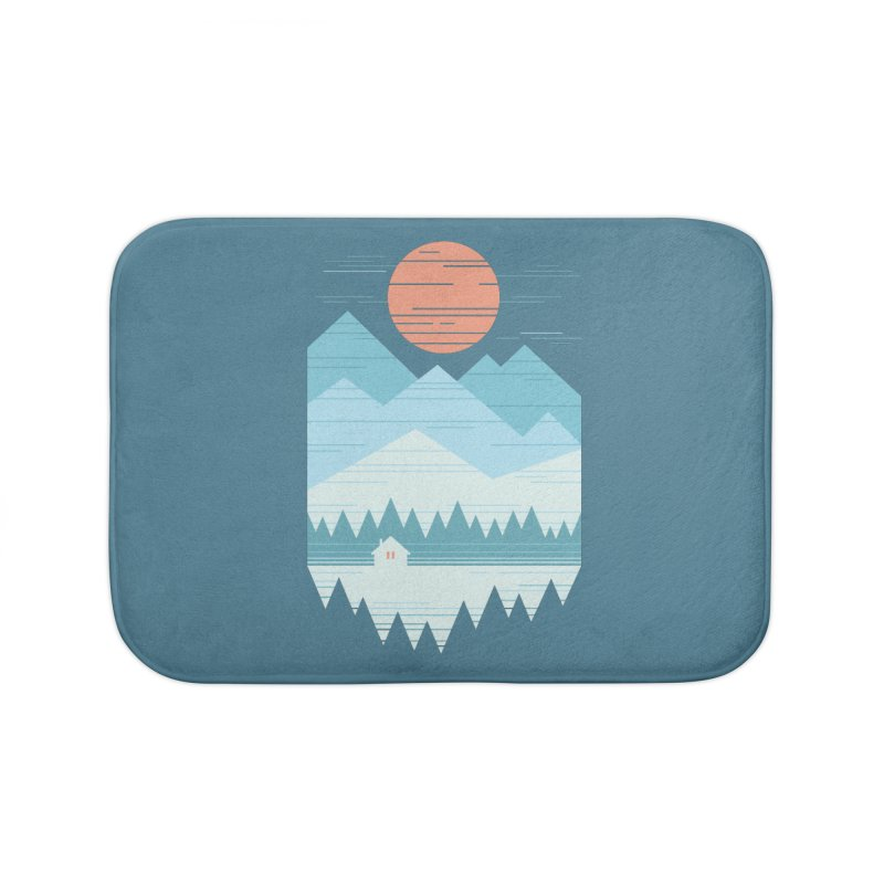 Cabin In The Snow Home Bath Mat by thepapercrane's shop