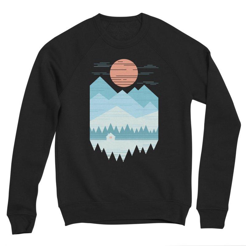 Cabin In The Snow Men's Sponge Fleece Sweatshirt by thepapercrane's shop
