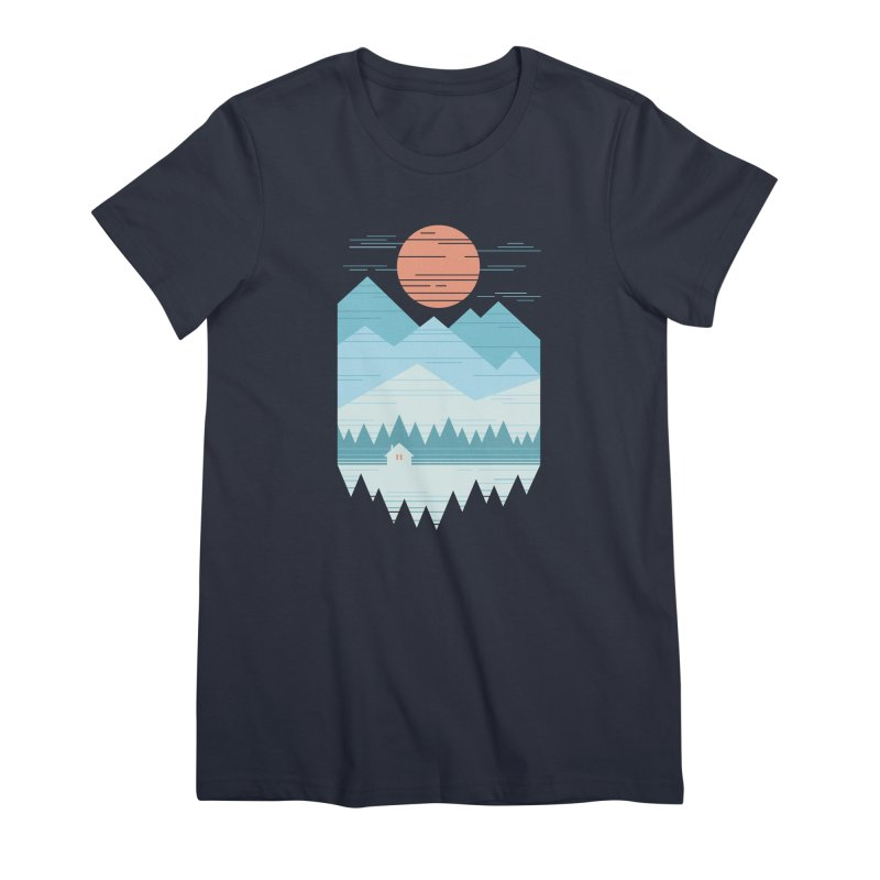 Cabin In The Snow Women's Premium T-Shirt by thepapercrane's shop