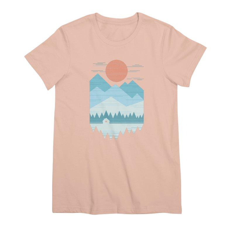 Cabin In The Snow Women's Premium T-Shirt by thepapercrane's shop