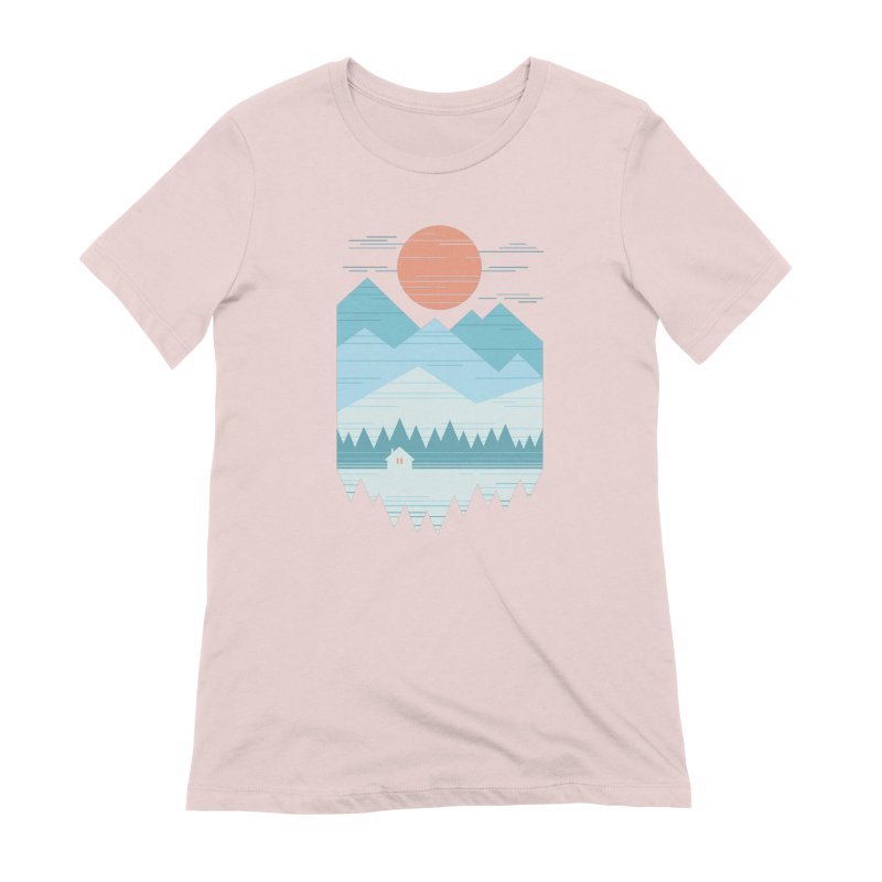 Cabin In The Snow Women's Extra Soft T-Shirt by thepapercrane's shop