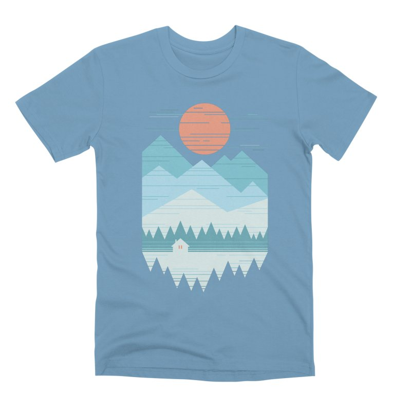 Cabin In The Snow Men's Premium T-Shirt by thepapercrane's shop