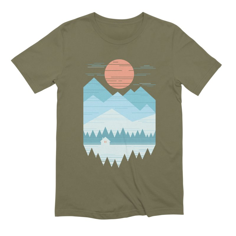 Cabin In The Snow Men's Extra Soft T-Shirt by thepapercrane's shop