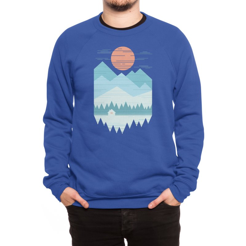 Cabin In The Snow Men's Sweatshirt by thepapercrane's shop