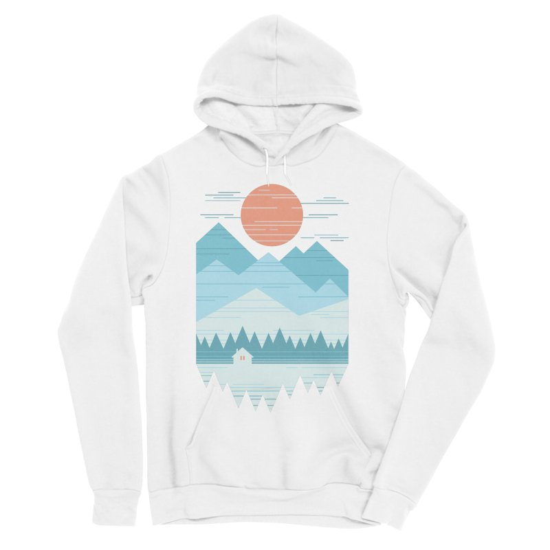 Cabin In The Snow Women's Sponge Fleece Pullover Hoody by thepapercrane's shop