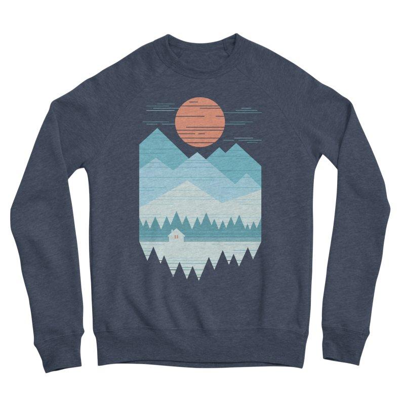 Cabin In The Snow Women's Sponge Fleece Sweatshirt by thepapercrane's shop