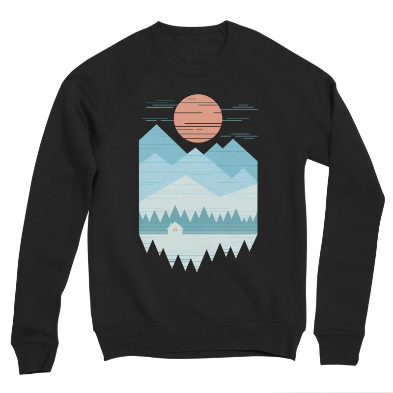 Cabin In The Snow Women's Sponge Fleece Sweatshirt by thepapercrane's shop