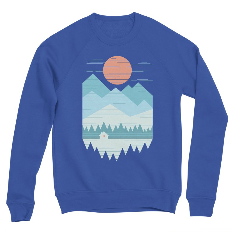 Cabin In The Snow Men's Sponge Fleece Sweatshirt by thepapercrane's shop