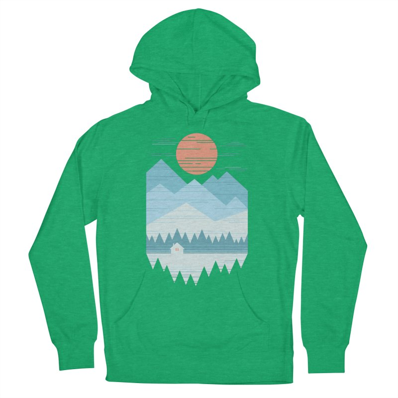 Cabin In The Snow Women's Pullover Hoody by thepapercrane's shop