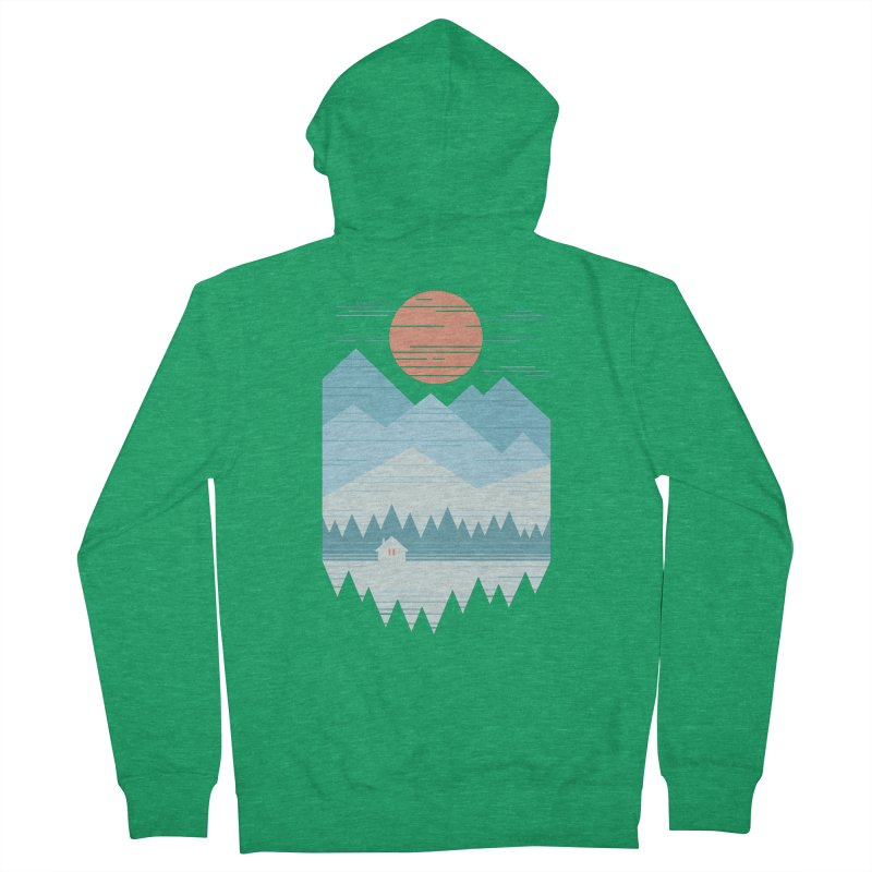 Cabin In The Snow Women's Zip-Up Hoody by thepapercrane's shop