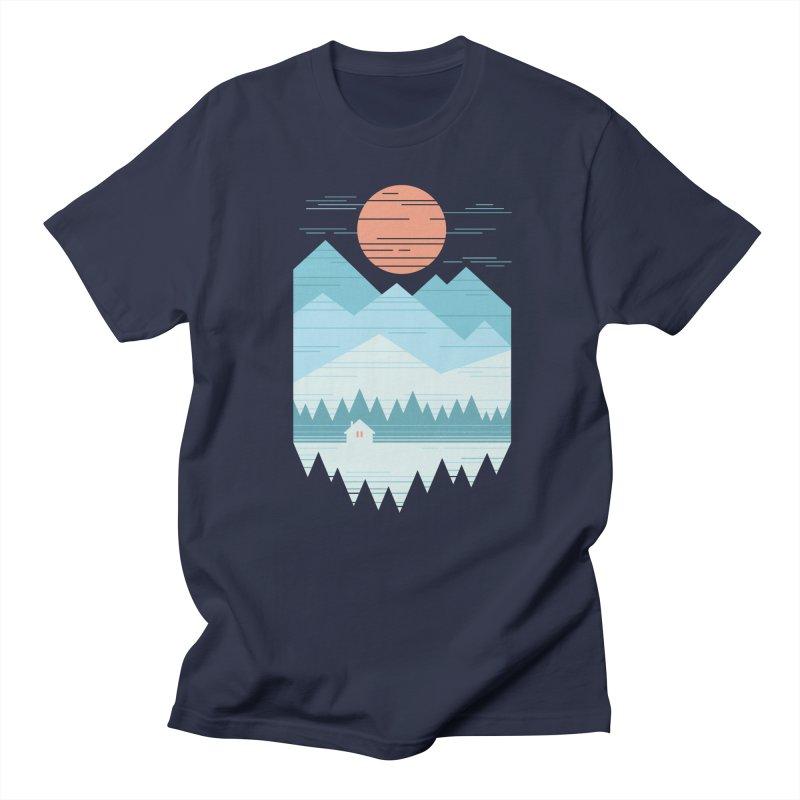 Cabin In The Snow Women's Regular Unisex T-Shirt by thepapercrane's shop