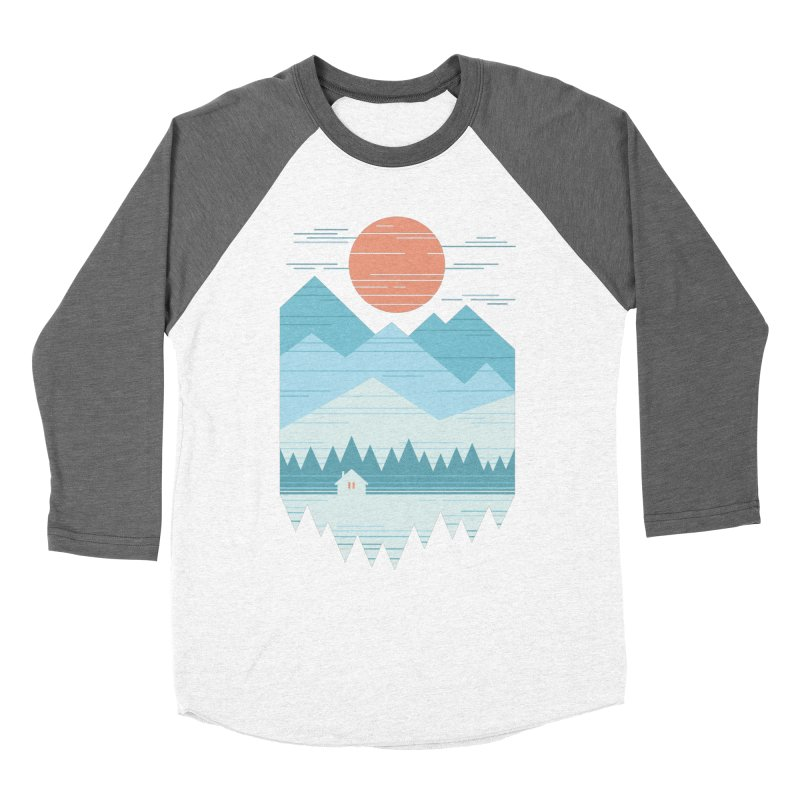 Cabin In The Snow Men's Baseball Triblend Longsleeve T-Shirt by thepapercrane's shop