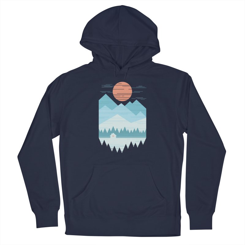 Cabin In The Snow Men's Pullover Hoody by thepapercrane's shop