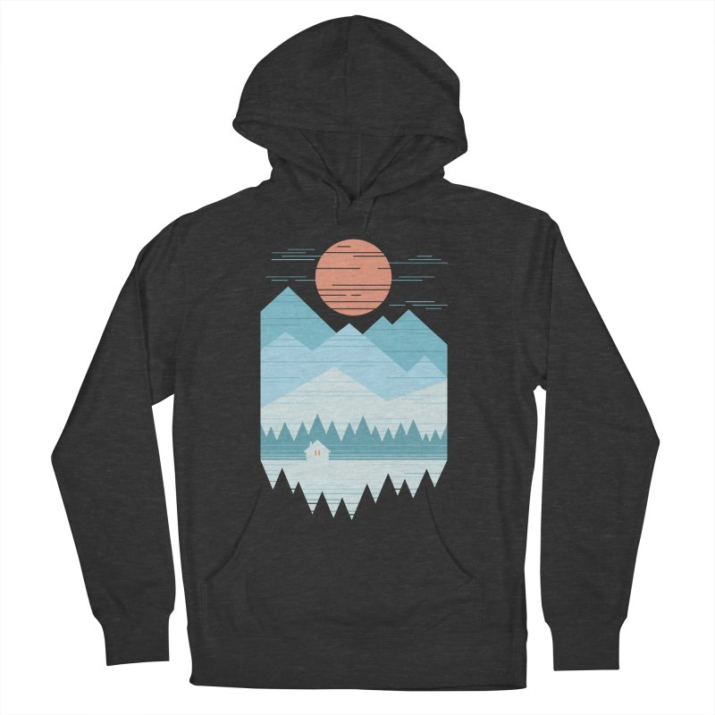 Cabin In The Snow Women's French Terry Pullover Hoody by thepapercrane's shop